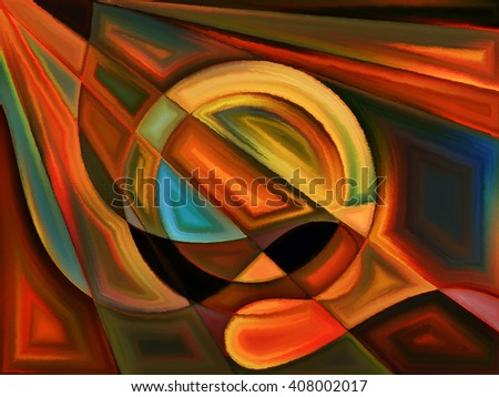 Life of forms series. Artistic background made of abstract forms and shape for use with projects on art, painting, design and education - stock photo
