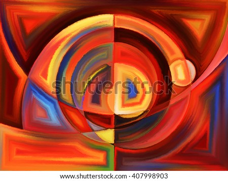 Life of forms series. Design composed of abstract forms and shape as a metaphor on the subject of art, painting, design and education - stock photo