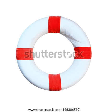 Life preserver floating  - stock photo
