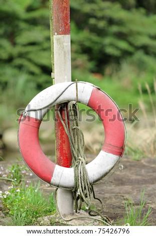 life ring - stock photo