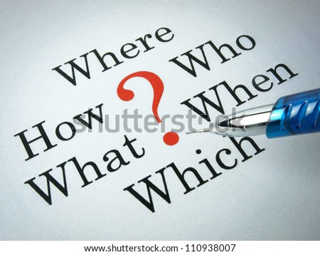 Life's big questions - stock photo