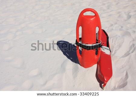 Lifeguard beach rescue equipment - stock photo