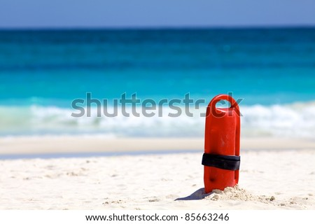 lifeguard float - stock photo