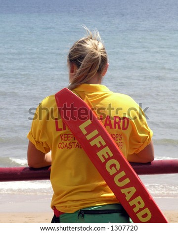Lifeguard lookout - stock photo