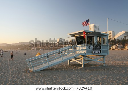 Lifeguard Station - stock photo
