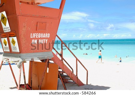 Lifeguard tower 2 - stock photo