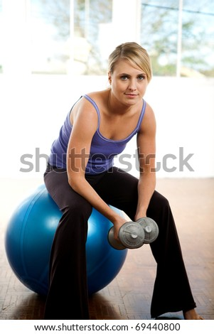 Lifestyle image of a young woman - stock photo