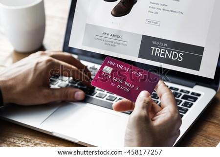 Lifestyle Minimalist Online E-shopping Concept - stock photo