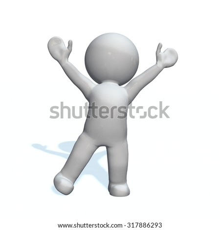 lift - 3D People isolated - stock photo