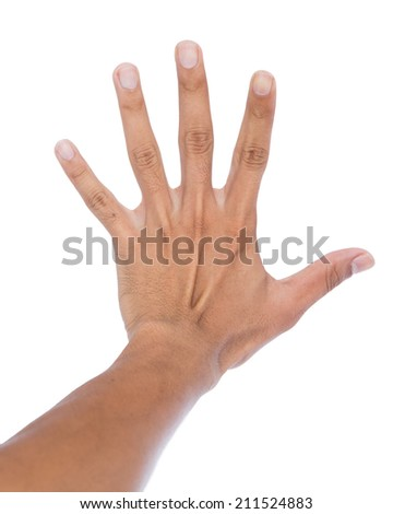 Ligament backhand isolated on white. - stock photo