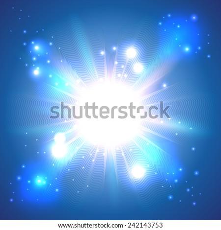 Light banner - stock photo