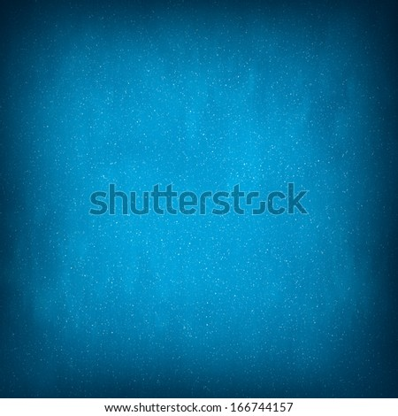 Light Blue Abstract Christmas Winter Background with Falling Snow - stock photo