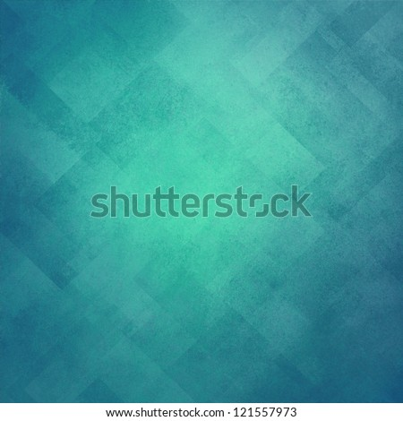 light blue background, abstract design, retro grunge background texture Easter layout of diamond element pattern and bright center, sky blue or baby blue teal color, background template design website - stock photo