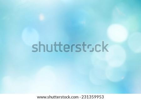 Light blue background beautiful bokeh - stock photo