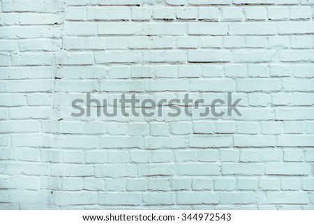 Light blue cold white brick wall texture background.  - stock photo