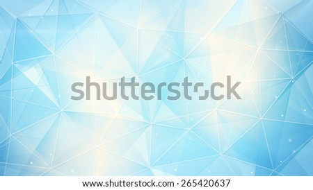 light blue web. computer generated abstract geometrical background - stock photo