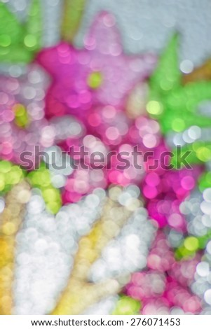 Light blur from colorful corrugated glass Beautiful bokeh background texture - stock photo
