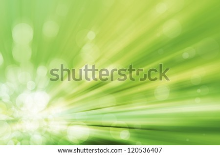 light bokeh with speed lines background - stock photo
