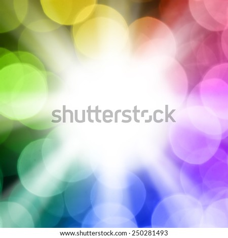 Light bombs of light and the sun is beautiful bokeh for text or background - stock photo