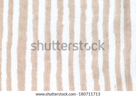 light brown and white striped fabric - stock photo