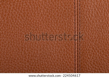 Light brown natural leather texture background - stock photo