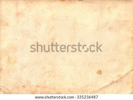 Light brown vintage paper. Vintage background - stock photo
