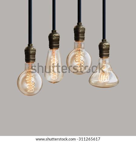 light bulb creative and design - stock photo