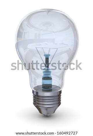 LIGHT BULB - 3D - stock photo