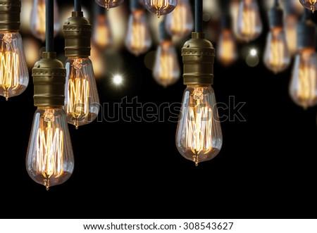 light bulb design - stock photo