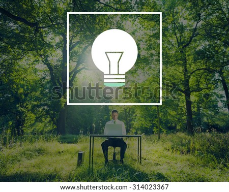 Light Bulb Ideas Inspiration VIsion Innovation Power Concept - stock photo