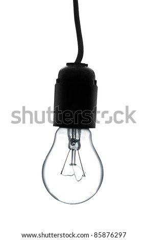 Light bulb isolated on a white background. - stock photo