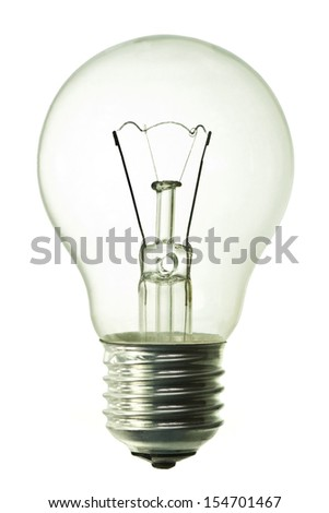 light bulb isolated on pure white background - stock photo