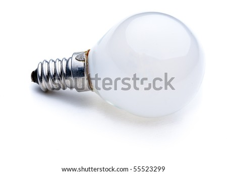 Light Bulb isolated on white background - stock photo