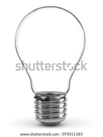 Light bulb, isolated, Realistic photo image - stock photo