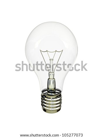 light bulb on a white background - stock photo