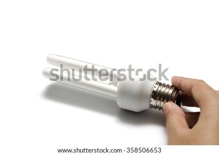 light bulb on a white background - stock photo