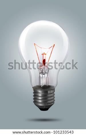 Light bulb on background - stock photo