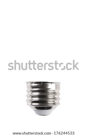 Light Bulb Screw Type Base with Background Clipping Path - stock photo