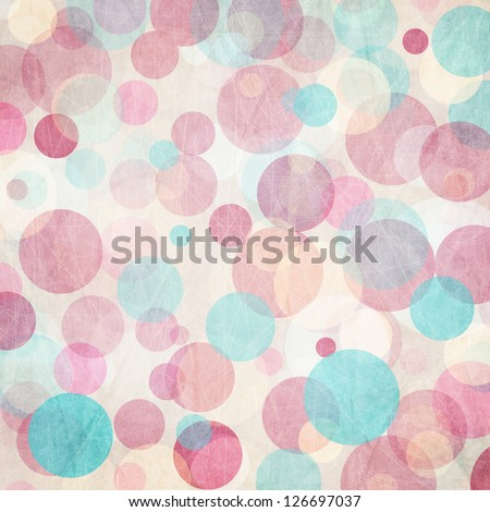 Light Colored Blue-  Pink  Abstract Circles  Background - stock photo