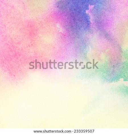 Light colorful watercolor stains. Abstract painted background - stock photo