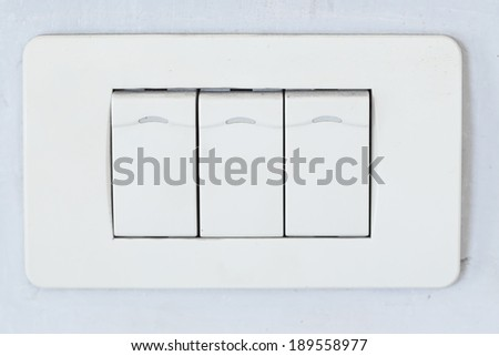 Light control switch on white background - stock photo