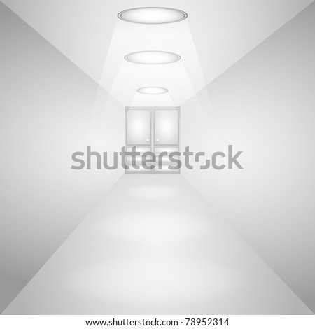 Light Corridor. - stock photo