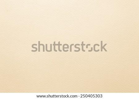 Light cream tone water color paper texture : 100-grams watercolor paper  - stock photo
