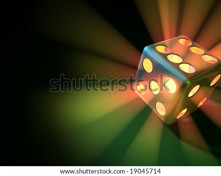 Light Dice - stock photo