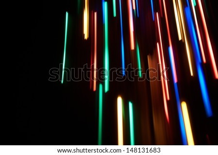 Light effects, straight lines. - stock photo