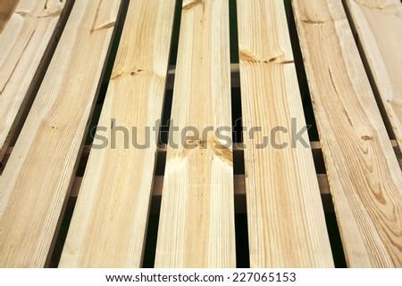 Light golden wooden plank background - stock photo