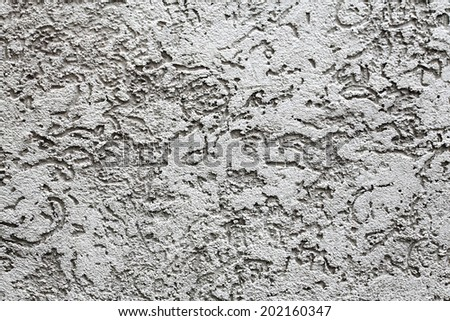 light gray pattern on the wall as a background - stock photo