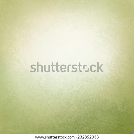 light green and white old paper background, green border with texture and white opaque cloudy center for adding text - stock photo
