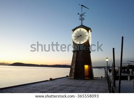 light house at Akker Brygge, Oslo, Norway - stock photo
