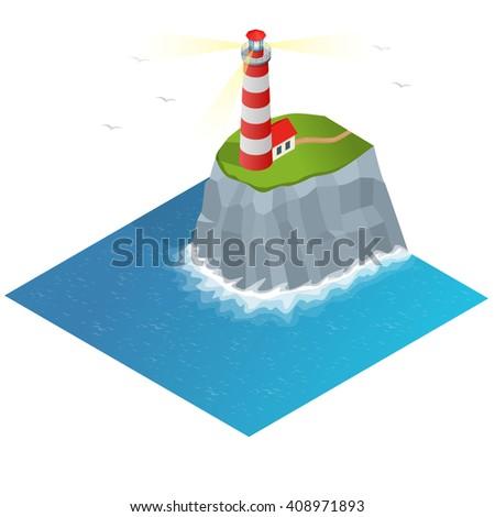 Light house, Lighthouse Icon building Lighthouse  maritime, Lighthouse navigational guidance, Lighthouse Image Lighthouse isometric Lighthouse Sign Lighthouse Flat Lighthouse design, Lighthouse sea - stock photo